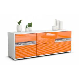 "image-Wydra TV Stand for TVs up to 39"" Brayden Studio Colour: High-gloss Orange / Matte White"