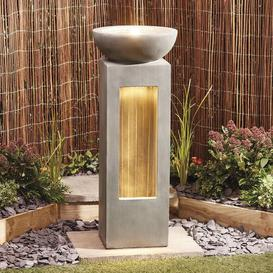 image-Tindell Polystone Fountain with LED Light Sol 72 Outdoor