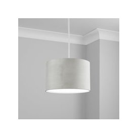 image-Made to Order 30cm Cylinder Shade Renzo Silver
