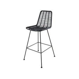image-Professional Black Resin High Garden Chair Selva BUSINESS