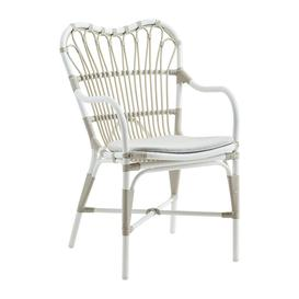 image-Sika-Design - Margret Outdoor Rattan Dining Chair - Dove White