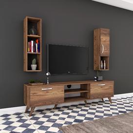 "image-Eero Entertainment Unit for TVs up to 55"" Brayden Studio Colour: Walnut"