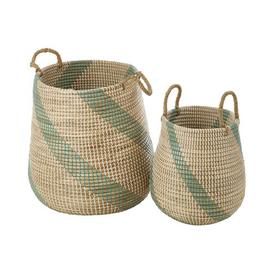image-Eichelberger Seagrass 2 Piece Basket Set Bay Isle Home