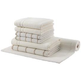 image-Manhattan Gold Line 7 Piece Hand Towel Bale Egeria