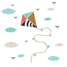 image-Kite Wall Sticker Art for kids