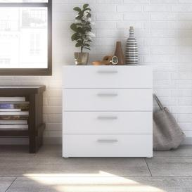 image-Otho 4 Drawers Chest Mercury Row Colour: White