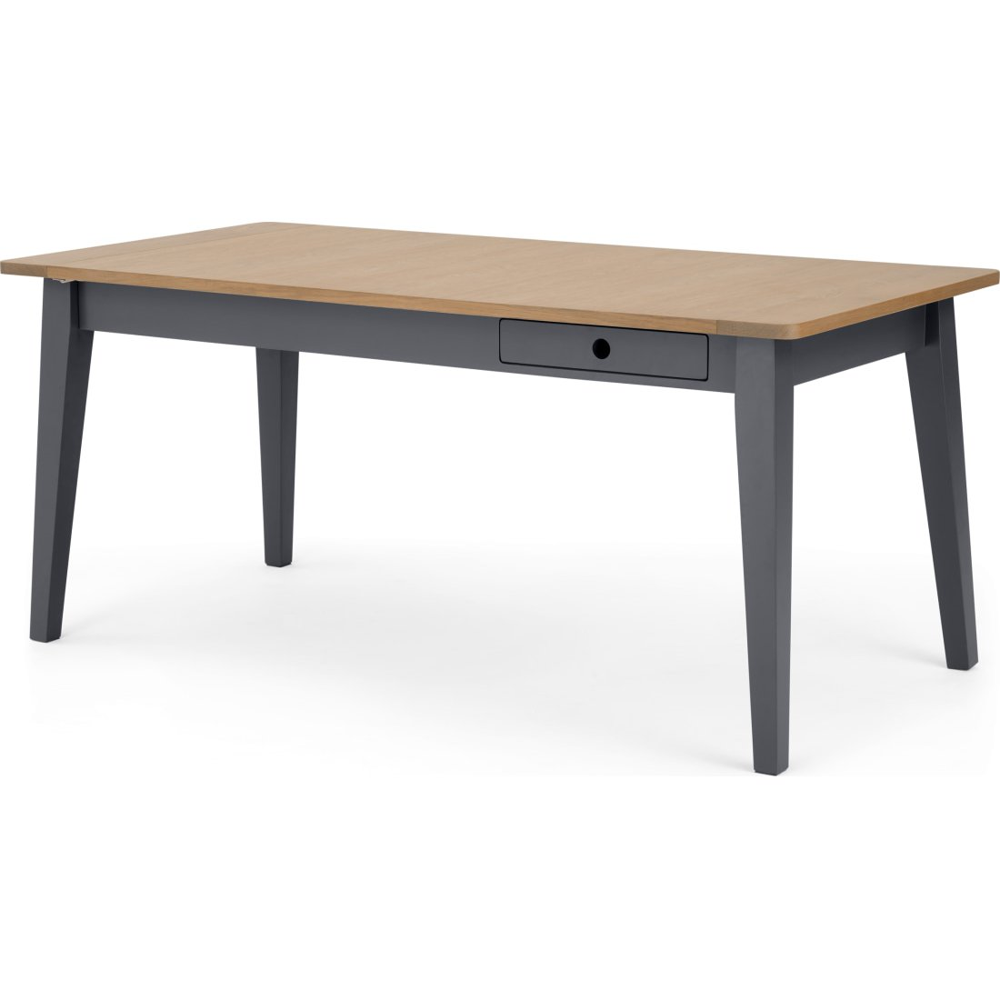 image-Ralph 6 - 8 seat Extending Dining table, Oak and Charcoal