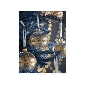 image-NEW Six Golden Glittered Baubles