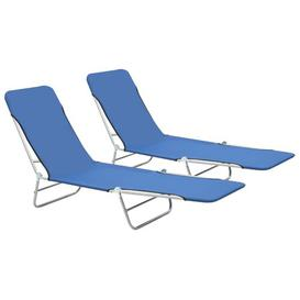 image-Freels Reclining Sun Lounger Sol 72 Outdoor Colour: Blue
