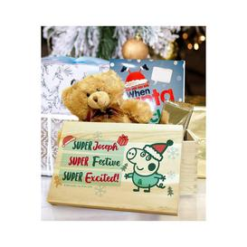 image-Personalised Peppa Pig George Pig Christmas Eve Box