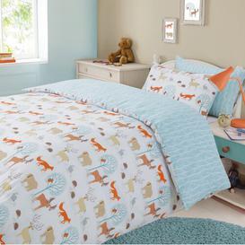 image-Albie Kids Forest Animal Duvet Cover Set Mack + Milo Size: Double - 2 Pillowcases