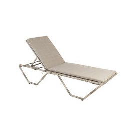 image-Alexander Rose Ocean Pearl Stacking Sunbed with Cushion