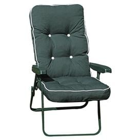image-Leni Lounge Chair Sol 72 Outdoor Frame Finish: Grey, Cushion Colour: Hunter