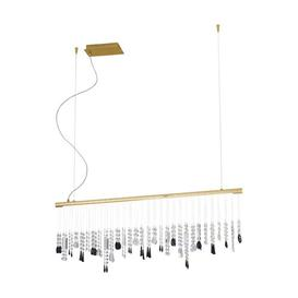 image-Stretta 1-Light LED Kitchen Island Pendant Kolarz Frame Colour: 24-carat gold, Crystal design: Clear Swarovski Spectra crystals