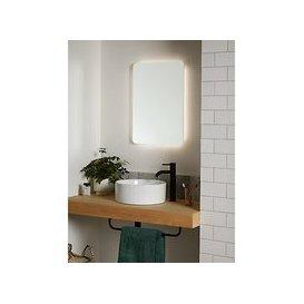 image-John Lewis & Partneres Halo Wall Mounted Illuminated Bathroom Mirror, Small