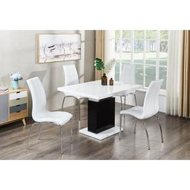 image-Doll Extendable Dining Set with 3 Chairs Metro Lane