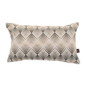 image-Ames Chevron Lumbar Cushion Ebern Designs Colour: Grey