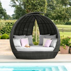 image-Eastlake Garden Daybed with Cushions Sol 72 Outdoor Colour: Grey