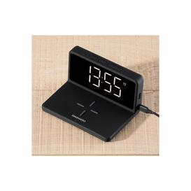 image-Daewoo Alarm Clock with Wireless Charger