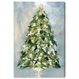image-'Christmas Tree 3' Painting on Wrapped Canvas East Urban Home Size: 76.2 cm H x 50.8 cm W