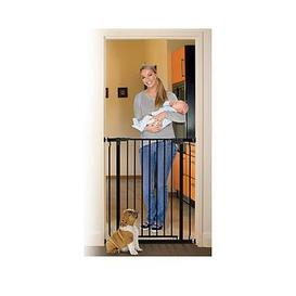image-Dreambaby Liberty Xtra Tall Gate (Fits 75-81Cm, Height 93Cm) - Black/Metal
