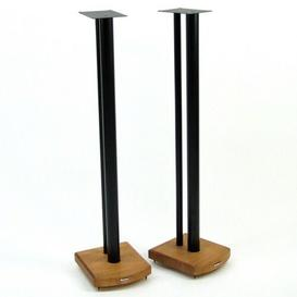 image-100cm Fixed Height Speaker Stand Symple Stuff Finish: Black/Medium Bamboo