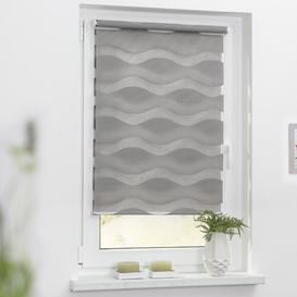 image-Wave Sheer Roller Blind Zipcode Design Size: 150cm H x 70cm W, Colour: Grey
