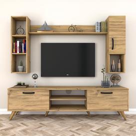 "image-Alisia Entertainment Unit for TVs up to 55"" Brayden Studio Colour: Oak"