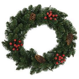image-45cm Lighted PVC Wreath Berkfield