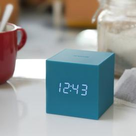image-Modern Digital Electric Alarm Tabletop Clock Symple Stuff Finish: Teal