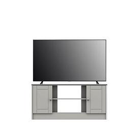 image-Alderley Ready Assembled Corner Tv Unit Up To 48 Inch - Grey