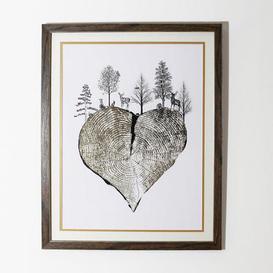 image-Golden Heart Framed Print Natural