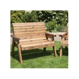 image-3 Seat Angled Tete-a-tete Companion Love Seat Garden Bench & Table