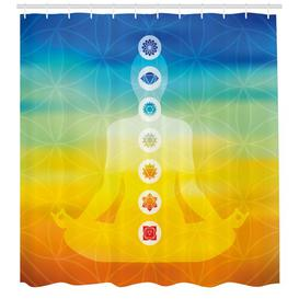 image-Tranquillity Shower Curtain East Urban Home Size: 180cm H x 175cm W