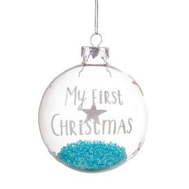 image-Sass & Belle Baby Boy First Christmas Bauble