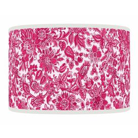 image-Polyester Drum Shade ClassicLiving Colour: Pink, Size: 26cm H x 50cm W x 50cm D, Type: Ceiling/Wall