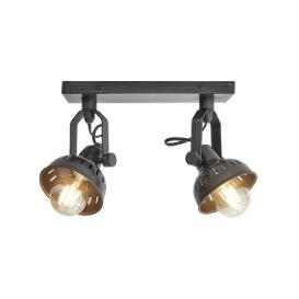 image-Industville Swivel Spotlight Wall Light - Double - Pewter