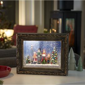 image-2-Light Bronze Snowy Christmas Choir Illuminated Frame