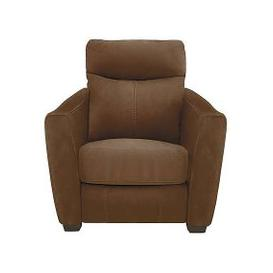 image-Compact Collection Midi Fabric Battery Recliner Armchair - Brown
