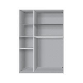 image-Mullis Sliding door wardrobe Brayden Studio Body and front colour: Polar white, Interior fittings: Standard, Size: 216cm H x 150cm W x 68cm D