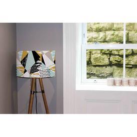 image-Cotton Drum Lamp Shade Isabelline Size: 22cm H x 25cm W x 25cm D