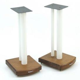 image-50cm Fixed Height Speaker Stand Symple Stuff Finish: White/Dark Bamboo