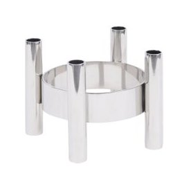 image-Orion Metal Tubes Round Dinner Candle Holder