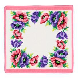 image-Poppy Face Cloth Feiler Colour: Azalea/White
