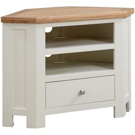 image-Dorset Ivory Painted 90cm Corner TV Unit - Devonshire Furniture