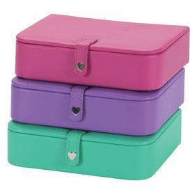 image-5cm Fiona Jewellery Box Symple Stuff Colour: Purple