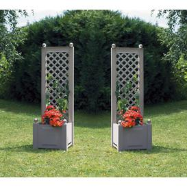 image-Plastic Planter Box with Trellis Sol 72 Outdoor Set Size: 2