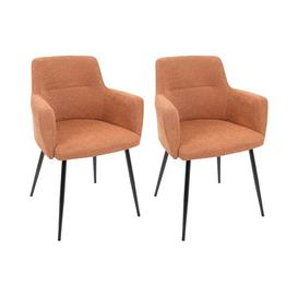 image-Alfie Upholstered Dining Chair Corrigan Studio Colour: Orange