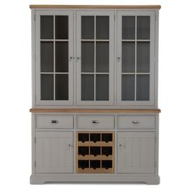 image-Shallotte Grey Painted Dresser with Winerack