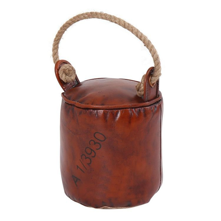 image-Eclectic Furniture Leather Round Door Stopper